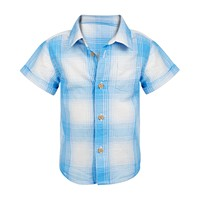 Deals on First Impressions Baby Boys Ombre Plaid Shirt