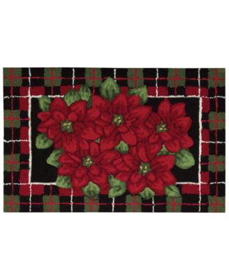 "CLOSEOUT! Nourison Rugs, Holiday Poinsettia 20"" x 32"" Accent Rug"