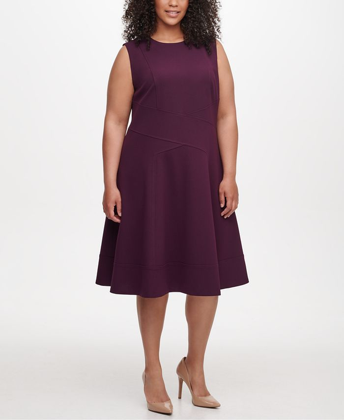 Tommy Hilfiger - Plus Size Seam-Detail Fit & Flare Dress