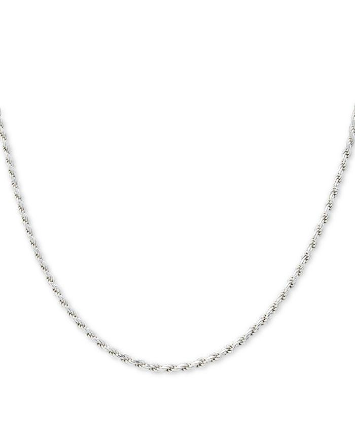 "Giani Bernini - Sterling Silver Necklace, 18"" Diamond Cut Rope Chain"