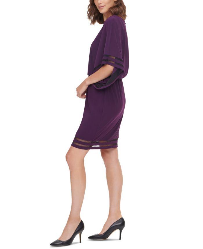 Jessica Howard Illusion-Detail Blouson Dress & Reviews - Dresses - Women - Macy's