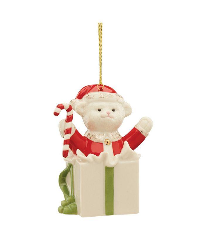 Lenox - 2020 Teddy's Surprise Ornament