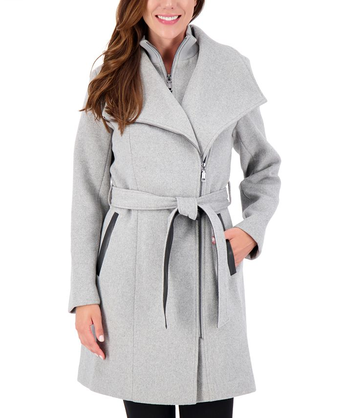 Vince Camuto - Asymmetrical Belted Wrap Coat