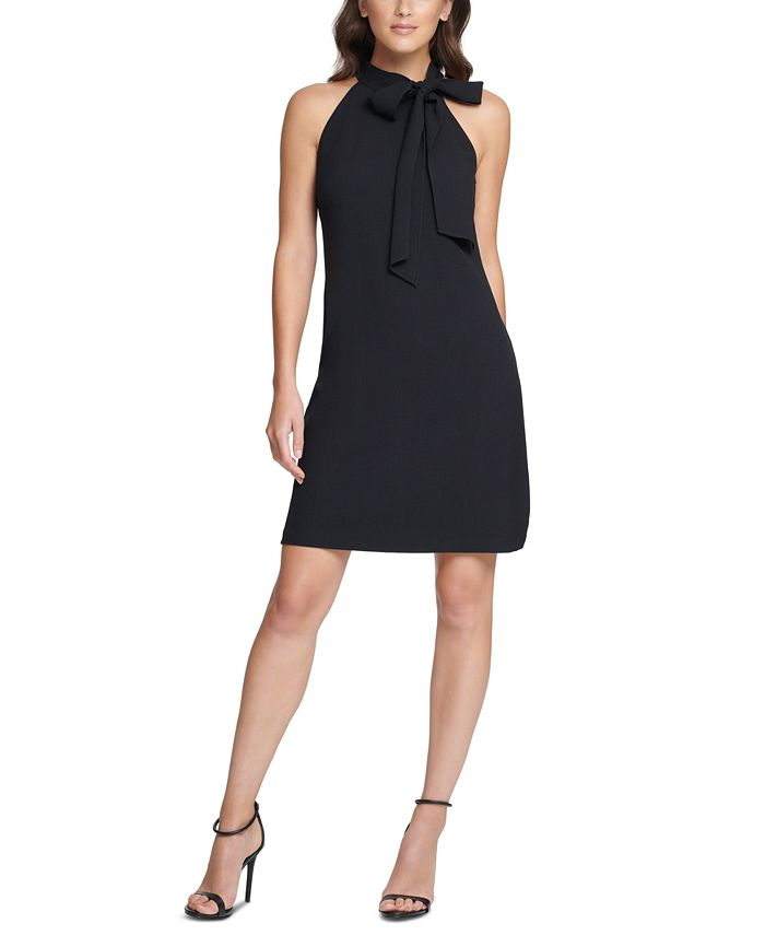 Vince Camuto - Plus Size Bow-Neck Shift Dress