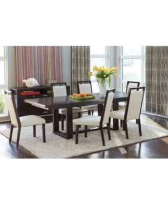 belaire white 9 piece dining room furniture set