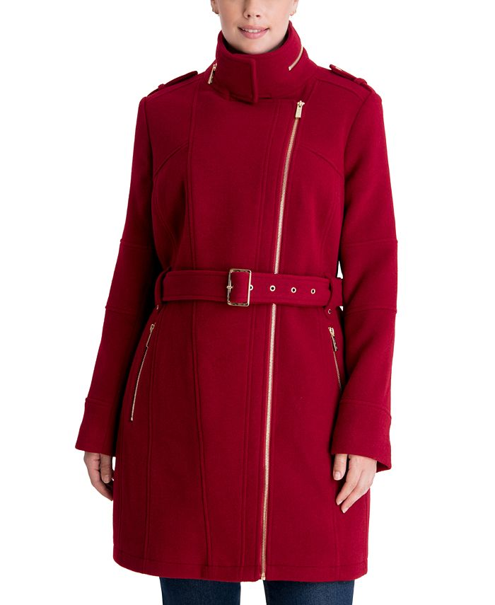 Michael Kors - Plus Size Asymmetrical Belted Coat