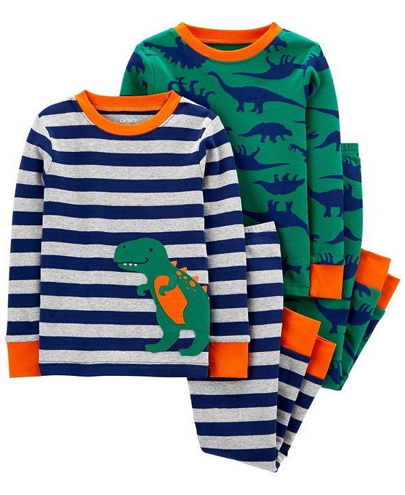 Carter's Baby Boy  4-Piece Dinosaur Snug Fit Cotton PJs