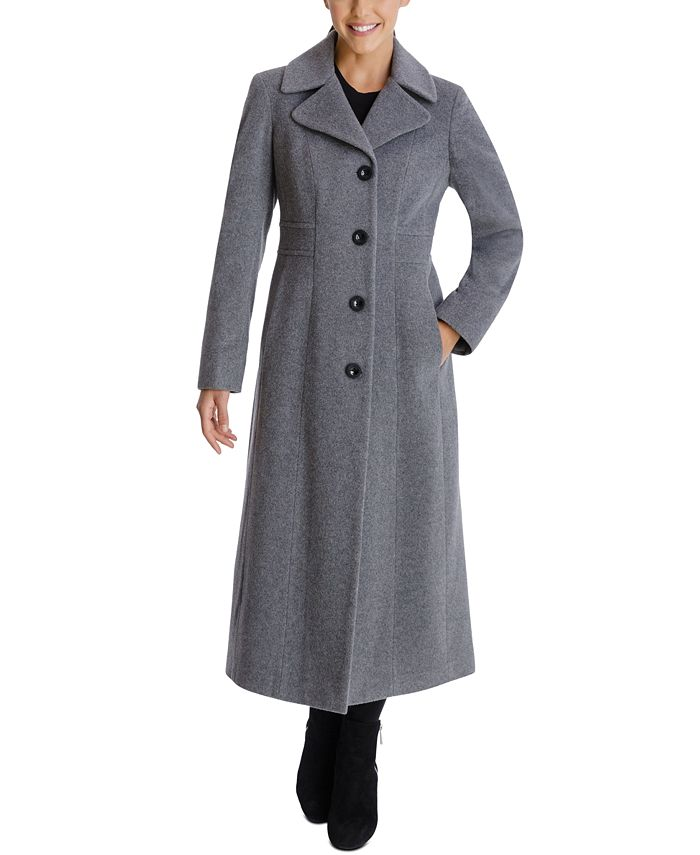 1940s Style Coats and Jackets for Sale Anne Klein Single-Breasted Maxi Coat $168.00 AT vintagedancer.com