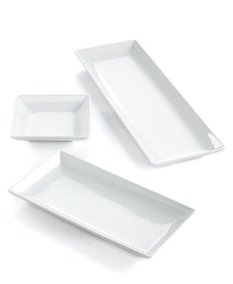 The Cellar Set of 3 Whiteware Nested Serving Trays