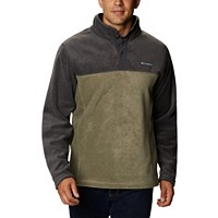 Deals on Columbia Mens Steens Mountain Colorblocked 1/4-Snap Sweatshirt