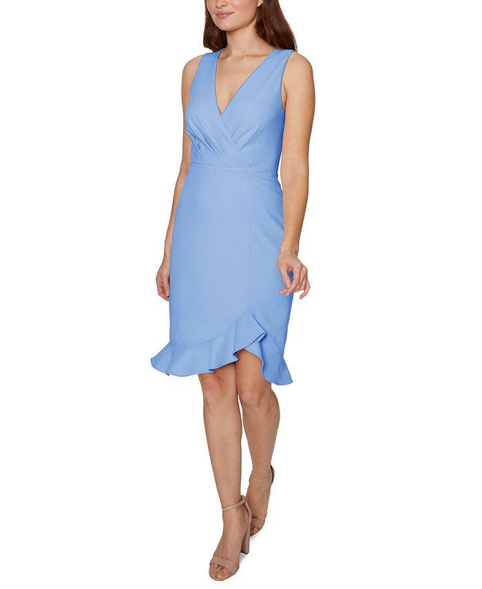 Betsey Johnson - Faux-Wrap Flounce Midi Dress