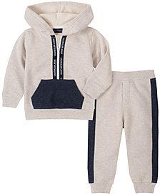 Calvin Klein Baby Boys Hooded Fleece Top Pant Set