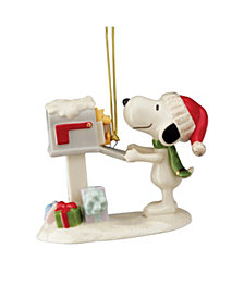 Lenox 2020 Snoopy's Letter to Santa Ornament