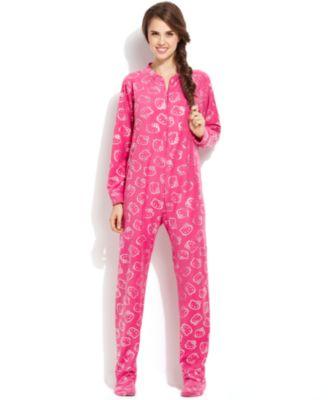 Hello Kitty The Glow Fleece Footed Pajamas - Bras, Panties ...