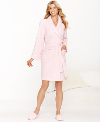 Charter club petite supersoft short robe lingerie for Robes de mariage petite macy