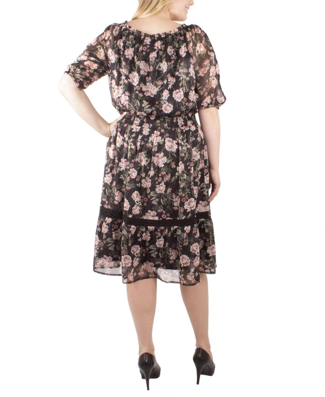 NY Collection Women's Plus Size Peasant Dress & Reviews - Dresses - Plus Sizes - Macy's