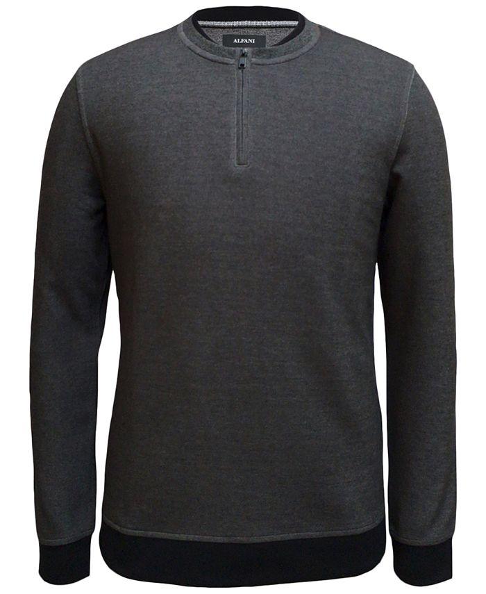 Alfani - Men's Quarter-Zip Sweater