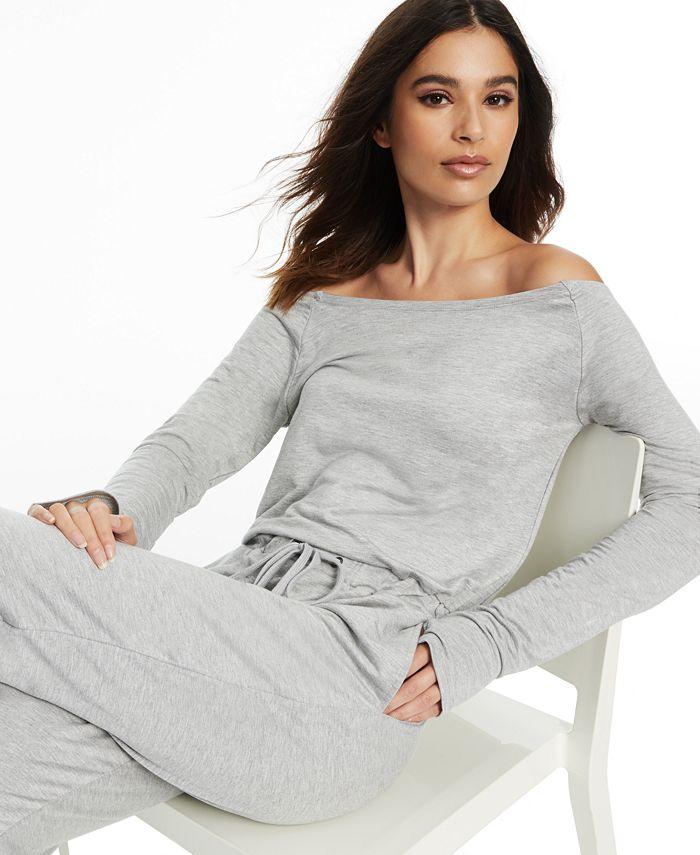 Inc International Concepts Culpos X Inc Off The Shoulder Jumpsuit Created For Macy S Reviews Pants Leggings Women Macy S
