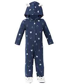 First Impressions Baby Boys Polar Bear Coverall Set, Created for Macy's