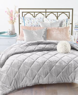 CLOSEOUT! Reversible 2-Pc. Crushed Velvet Twin/Twin XL Comforter Set, Created for Macy's
