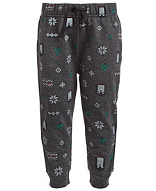 First Impressions Toddler Boys Winter-Print Jogger Pants, Created for Macy's