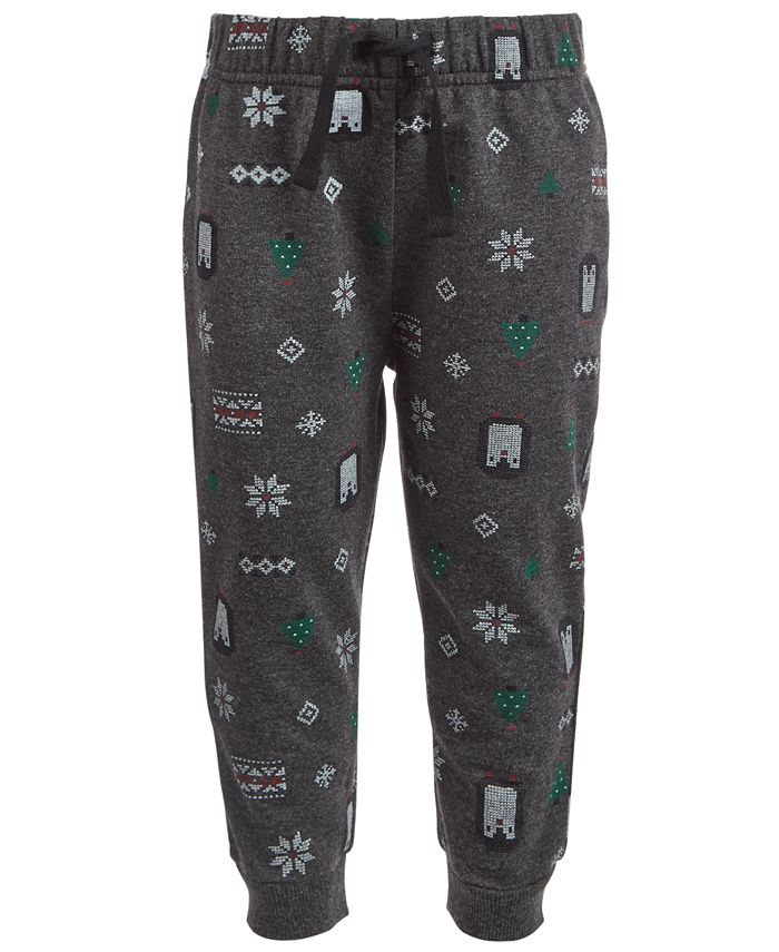 First Impressions - Baby Boys Winter-Print Jogger Pants