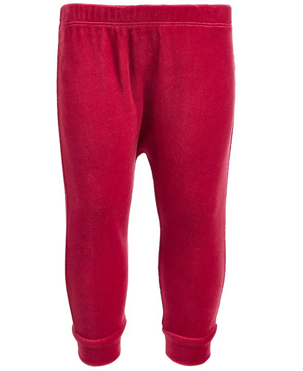 First Impressions Baby Boys & Girls Velour Jogger Pants, Created for Macy's