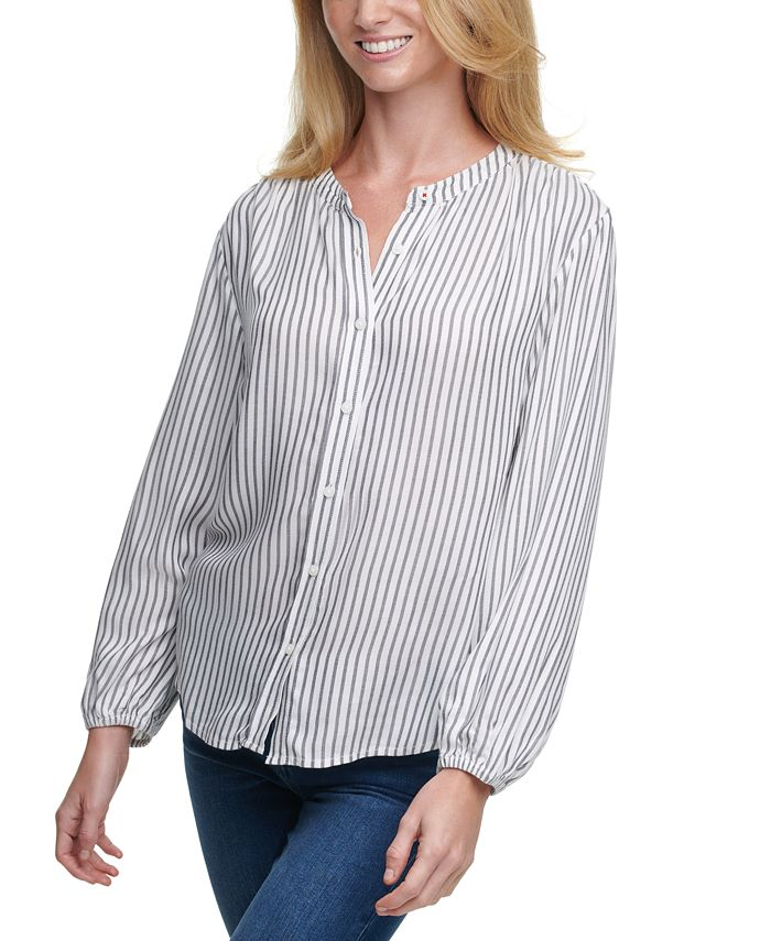 Tommy Hilfiger - Striped Button-Front Top