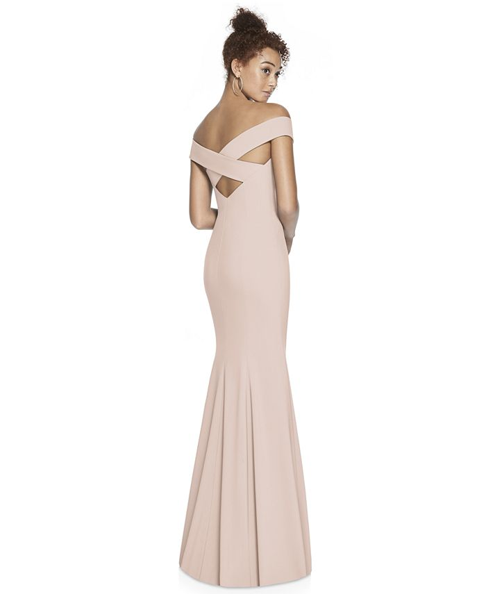 Dessy Collection - Off-The-Shoulder Maxi Dress