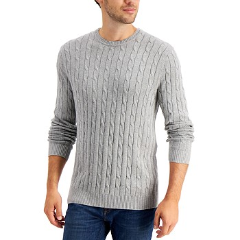 Club Room Men's Cable-Knit Sweater