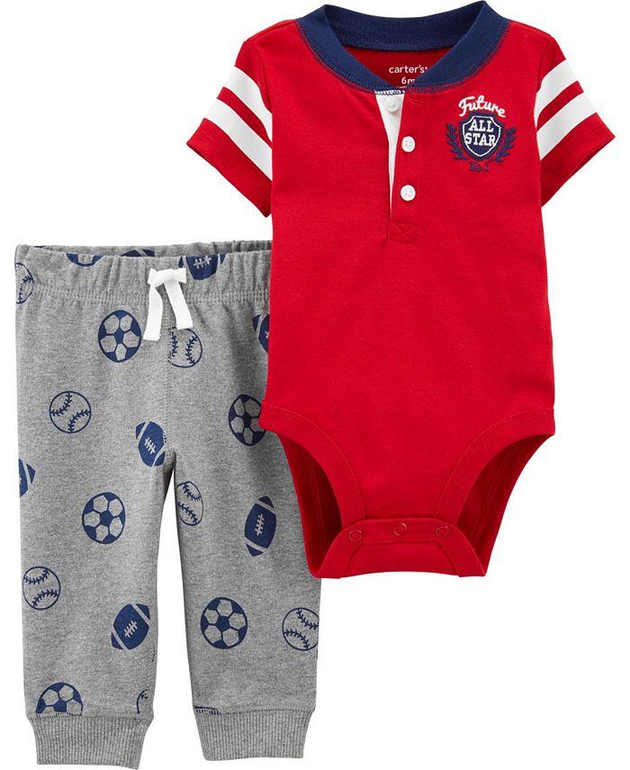 Carter's - Baby Boy  2-Piece Varsity Bodysuit Pant Set