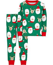 Carter's Baby Boys 2-Pc. Cotton Santa & Reindeer-Print Pajamas Set