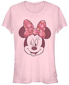 Fifth Sun Women's Disney Mickey Classic Love Rose Short Sleeve T-shirt