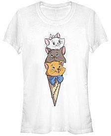 Fifth Sun Women's The Aristocats Kitten Stack Short Sleeve T-shirt