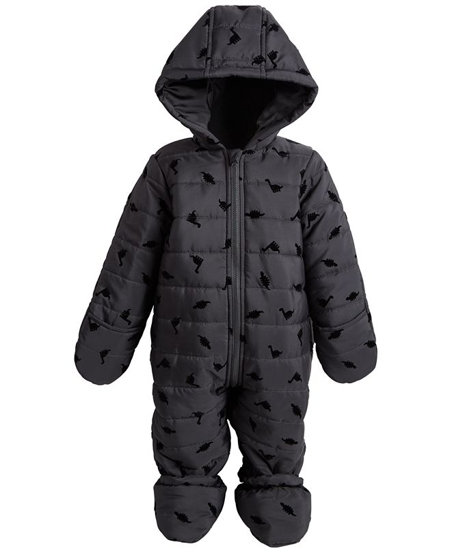 First Impressions Baby Boys Flocked Snowsuit, Created for Macy's