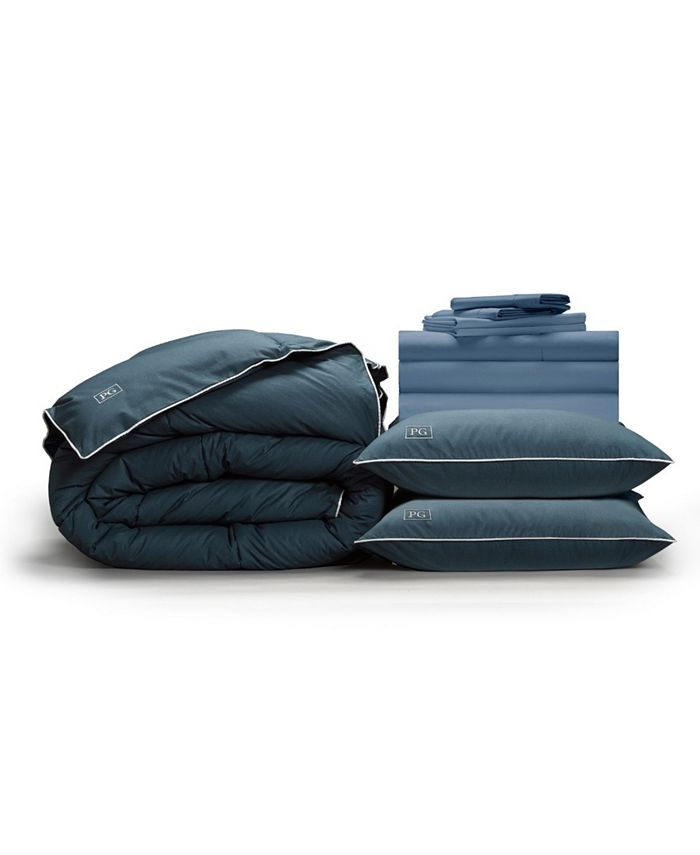 Pillow Guy - Classic Cool Crisp Perfect 10-Piece Bedding Bundle with Down-Alt Gel Fiber, California King