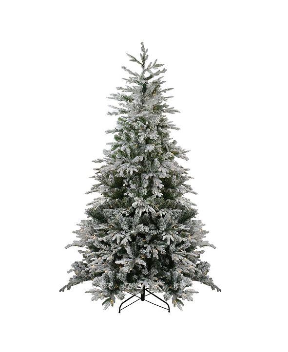 Northlight Pre-Lit Flocked Winfield Fir Artificial Christmas Tree