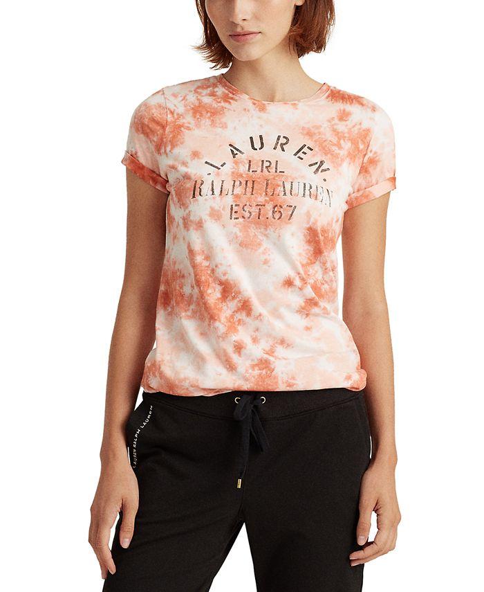 Lauren Ralph Lauren - Tie-dye Vintage-Inspired Signature Logo Top