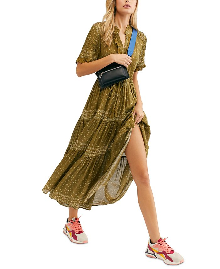 Free People - Rare Feeling Pleated Printed Dress