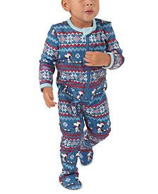 Nite Nite by Munki Munki Matching Baby Peanuts Footie Family Pajamas