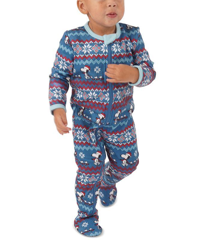 Munki Munki Matching Baby Peanuts Footie Family Pajamas