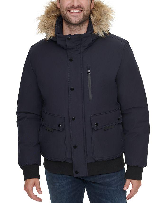 Calvin Klein - Men's Bomber Parka with Faux Fur Hood