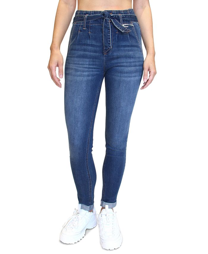 Almost Famous - Juniors' Double-Rolled Super High-Rise Skinny Jeans