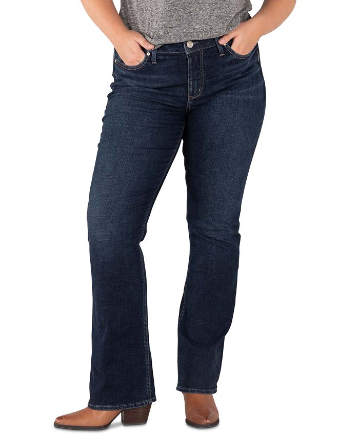 Silver Jeans Co. - Trendy Plus Size Avery Slim Bootcut Jeans