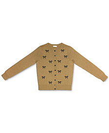 Charter Club Embellished Bow Button Cardigan, Created for Macy's