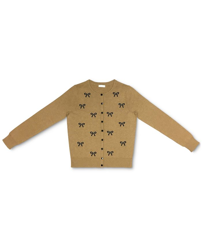 Charter Club - Embellished Bow Button Cardigan