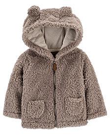 Carter's Baby Boy Hooded Sherpa Jacket