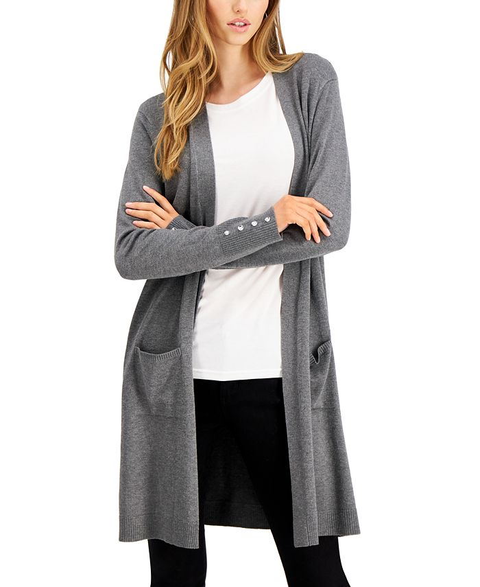 Willow Drive - Button-Sleeve Duster Cardigan