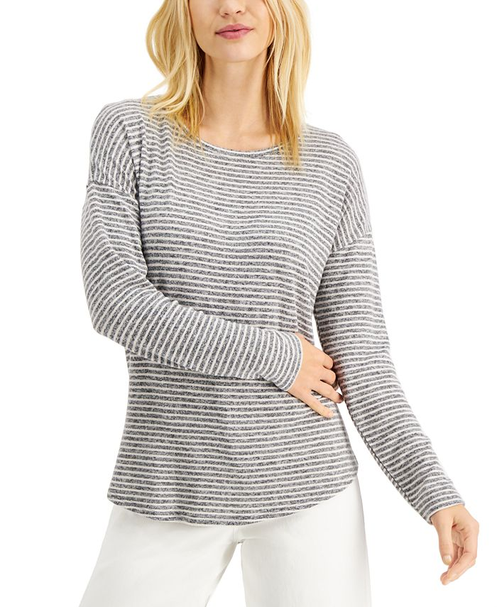 Style & Co - Striped Long-Sleeve Top