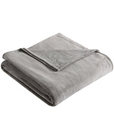 Kenneth Cole Reaction Solid Ultra Soft Plush Full/Queen Blanket